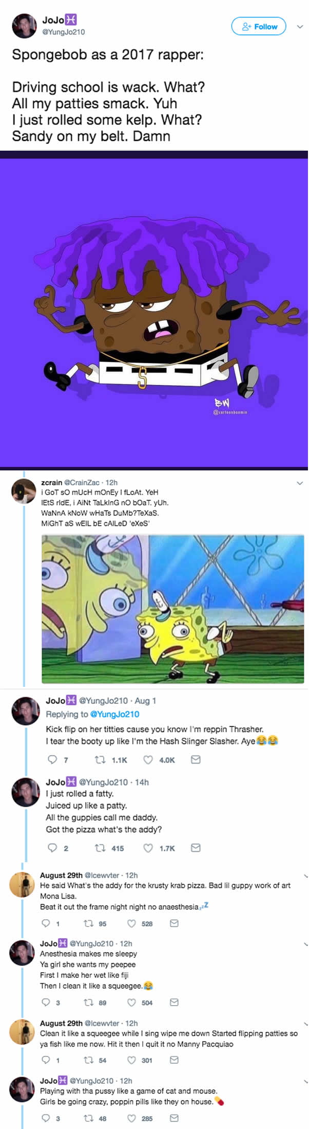 if spongebob is a 2017 rapper 9gag