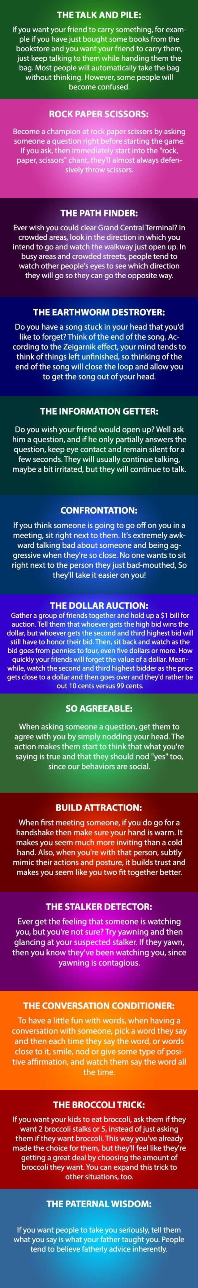 Some psychology tricks to try - 9GAG