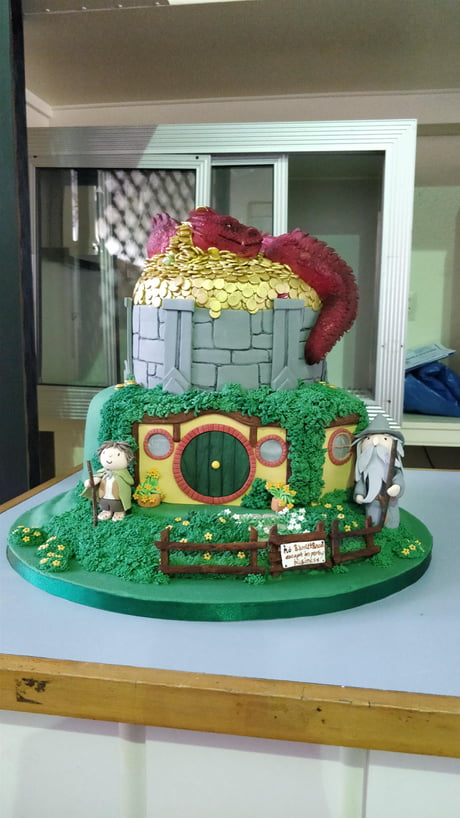 Marvelous Cake At Work Do Were Lord Of The Rings Tour Guides Were Having Birthday Cards Printable Giouspongecafe Filternl