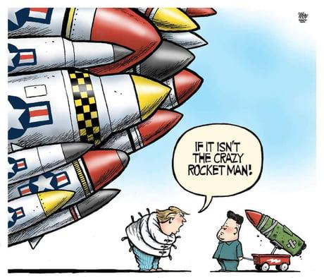 Crazy rocket man