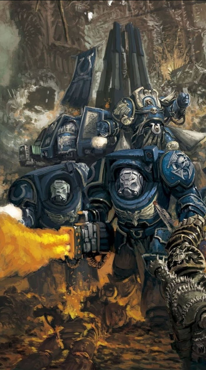 a warhammer 40k phone wallpaper for you. today is the ultramarines