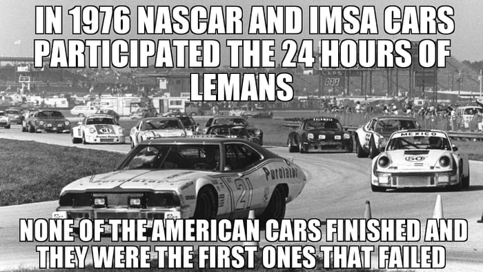 This while later the americans tried to ban audi technology after they dominated imsa on their firdt try