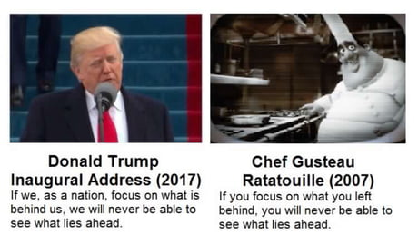 A bit late, but another thing Trump plagiarized...