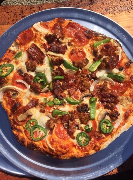 Brick oven combination pizza