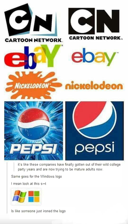 old vs new logos which ones do you like more 9gag