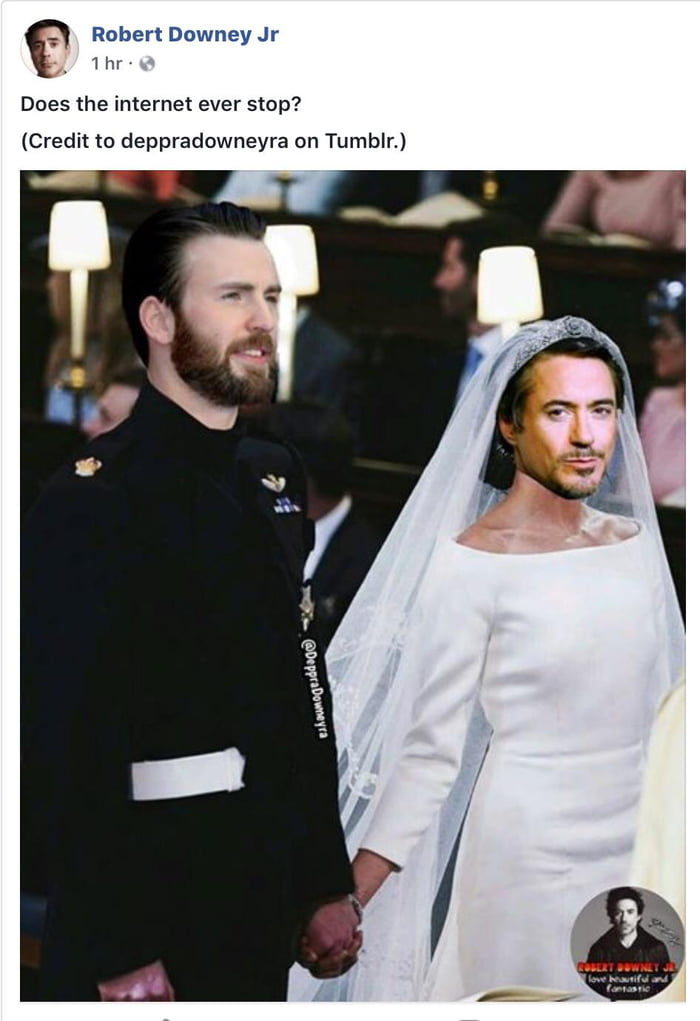 RDJ confirms a wedding in Avengers 4   just not the one we