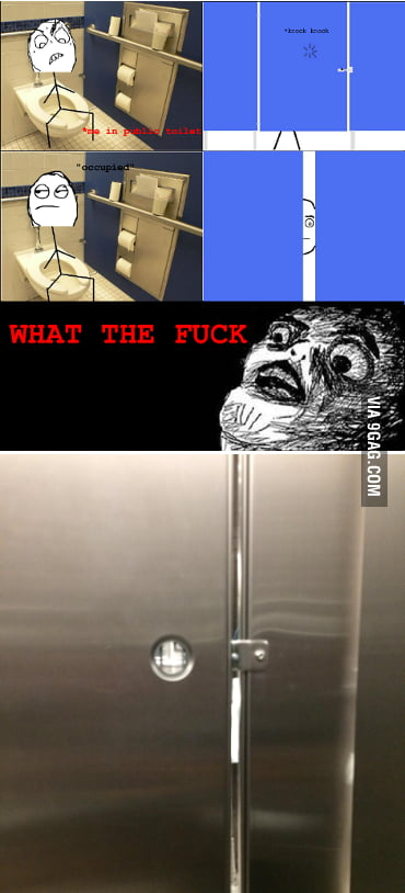 I one up'd the stall door gap meme. Realized there was a ...