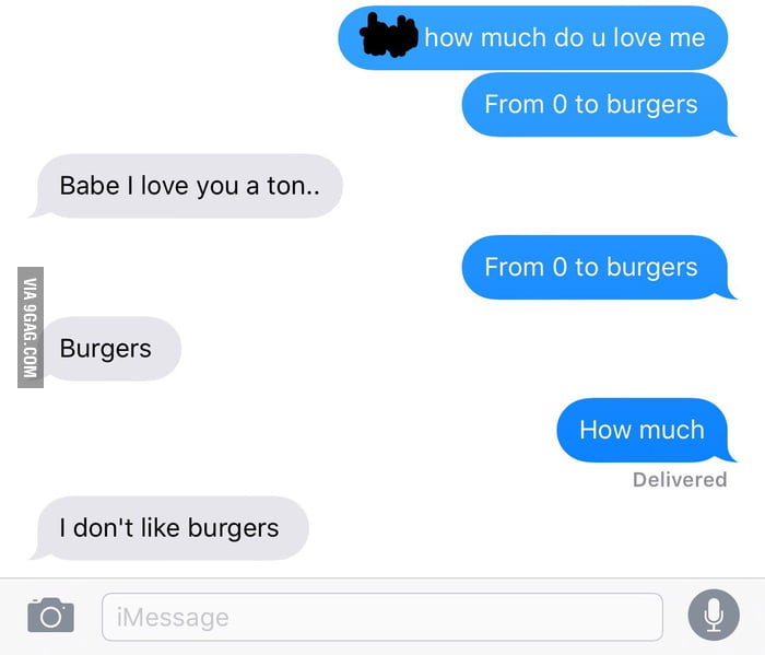 Tried The How Much Do You Love Me With Burger Scale And It Didn