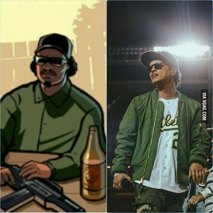 Bruno Mars Looking Like Ryder From GTA:SA