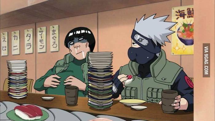 Resultado de imagen para kakashi eat