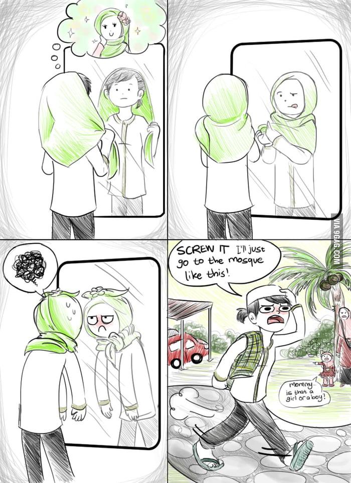 It's hard being pretty [an early Eid comic]
