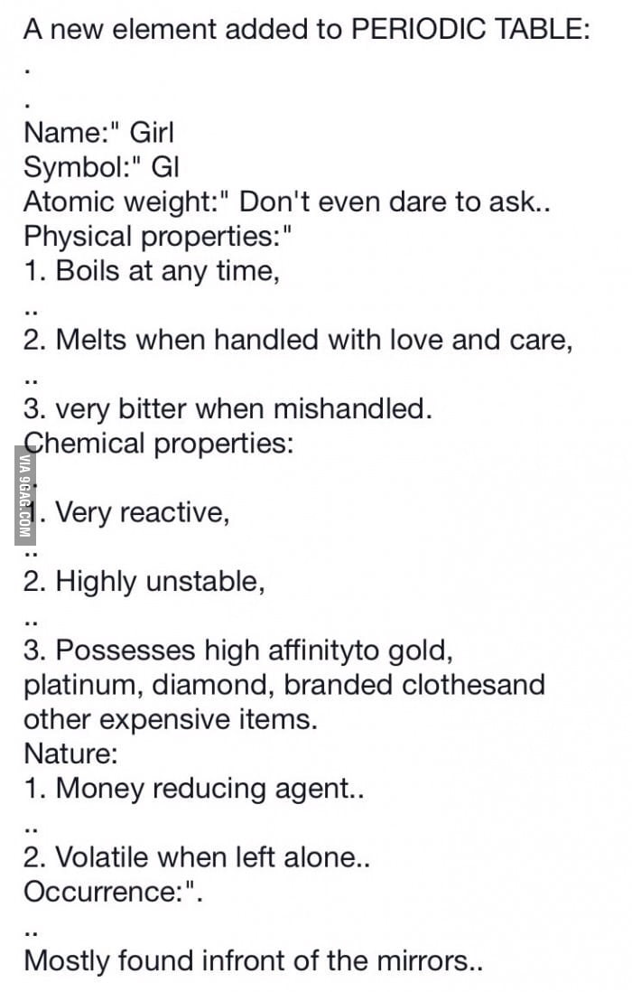 New Periodic Table Element Discovered 9gag