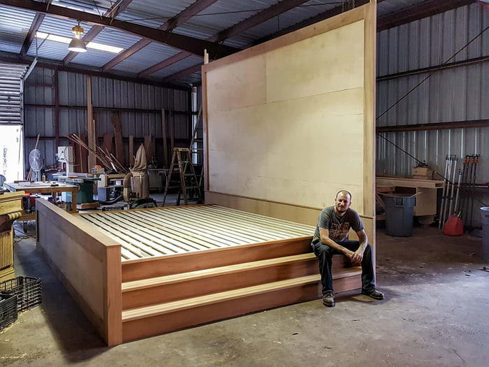 Charmant Custom Double King Bed. 15ft Across