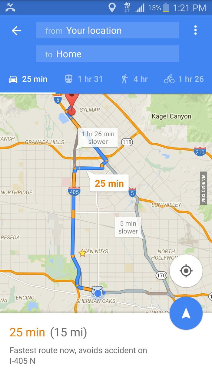 thanks god i turned on the google maps otherwise it was going to take me. thanks god i turned on the google maps otherwise it was going to