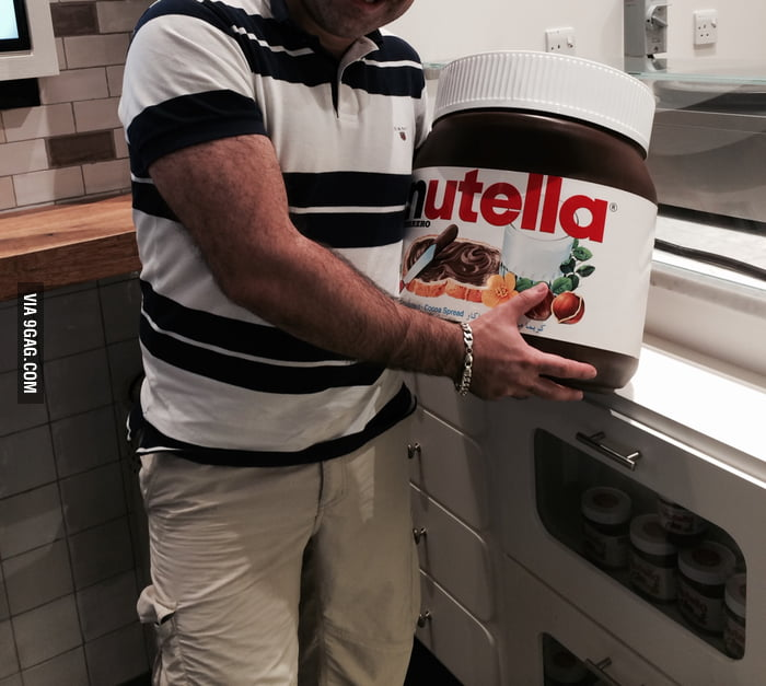 For the girl who bought 5 kg Nutella; That's 15 kg in ...