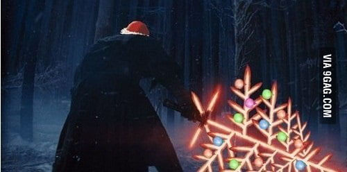 merry christmas from star wars this one is for 9gag sword collection - Merry Christmas Star Wars