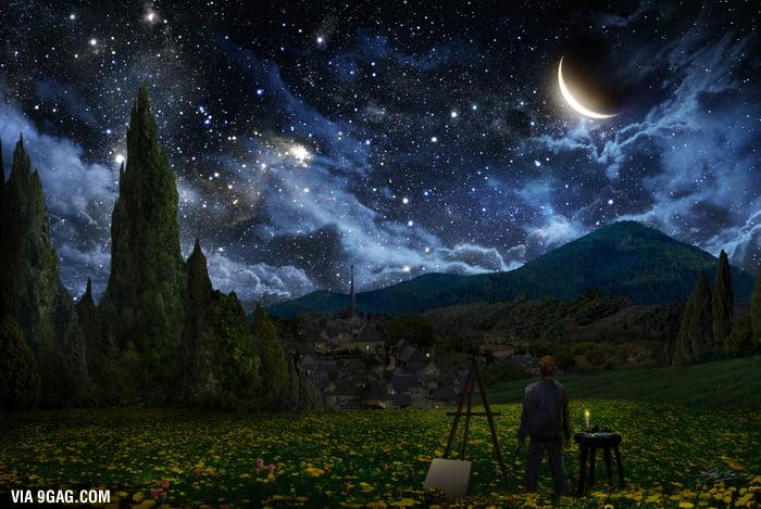Starry Night as seen by Van Gogh