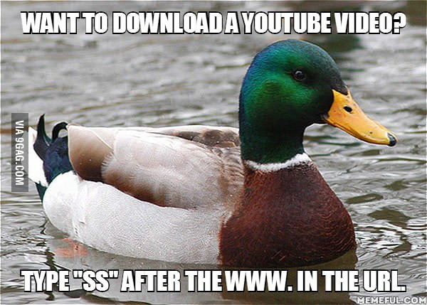 If you want to download a YouTube video...