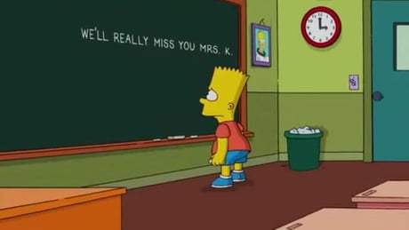 This is one of the most saddest moment in the Simpsons
