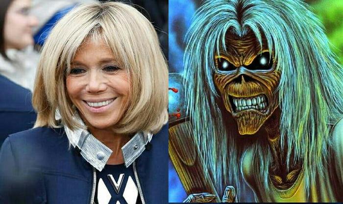 Brigitte Macron Looks Like Eddie From Iron Maiden 9gag