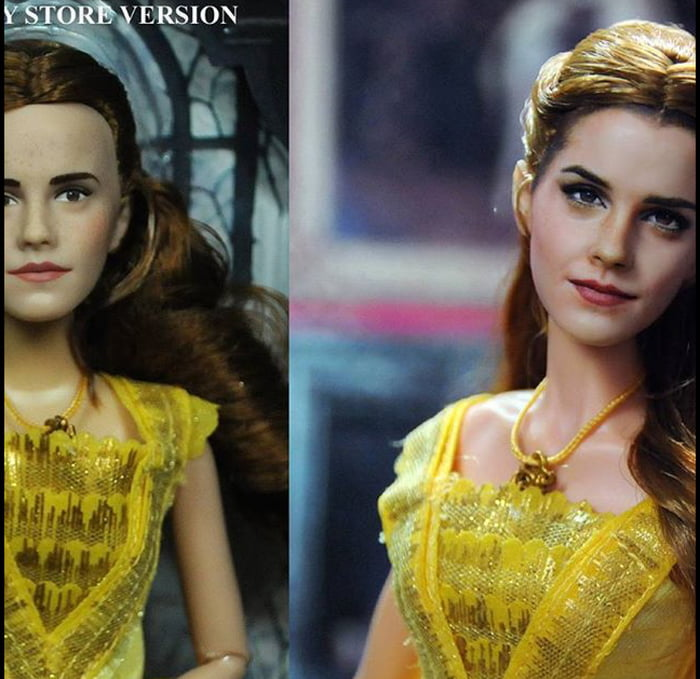 Emma Watson Beauty And The Beast Doll Before After Artist Noel Cruz Changed It
