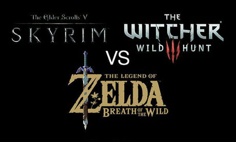 Interesting comparasion: Elder Scrolls: Skyrim vs The Legend Of Zelda: Breath of The Wild vs The Witcher 3: Wild Hunt. [Not mine].
