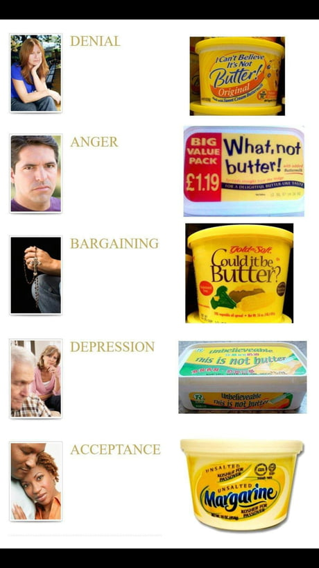 5 stages of grief, explained with pictures