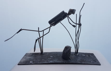 I made this little diver from steel. Tell me, what do you think of it?
