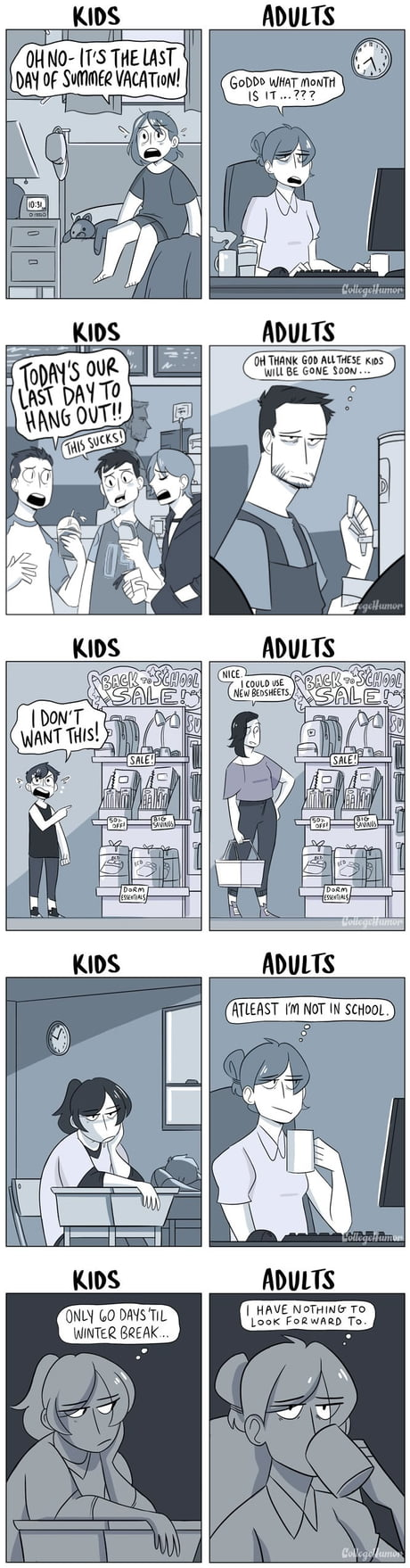 Back To School Season For Kids Vs Adults