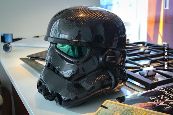 My friend's Carbon Fiber Storm Trooper helmet.