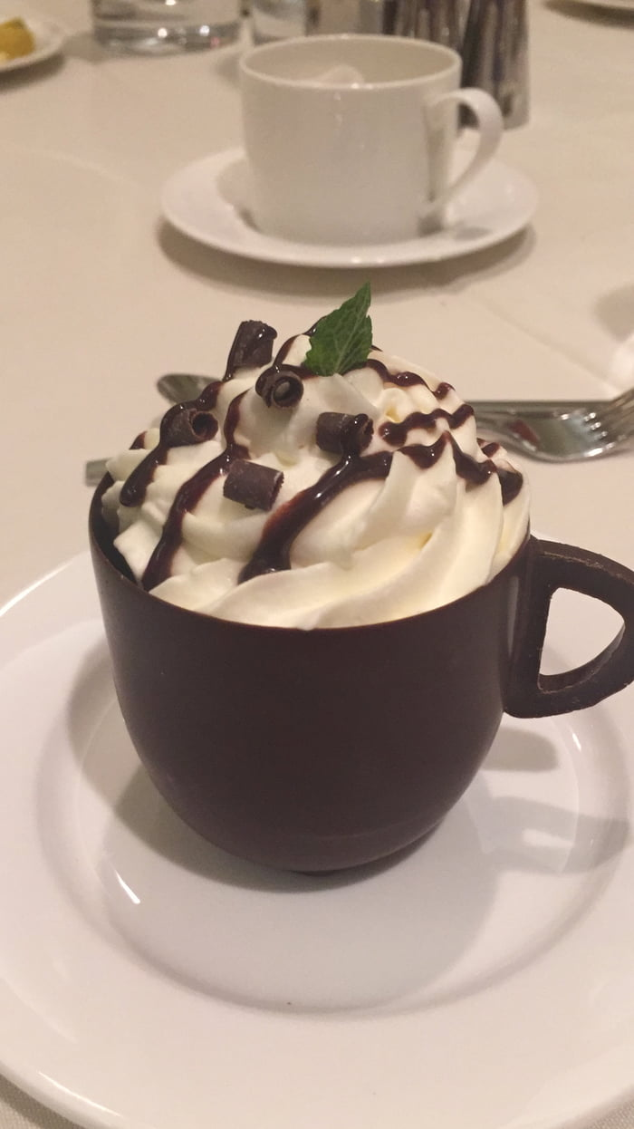 Chocolate Mousse in a Chocolate Cup... - 9GAG