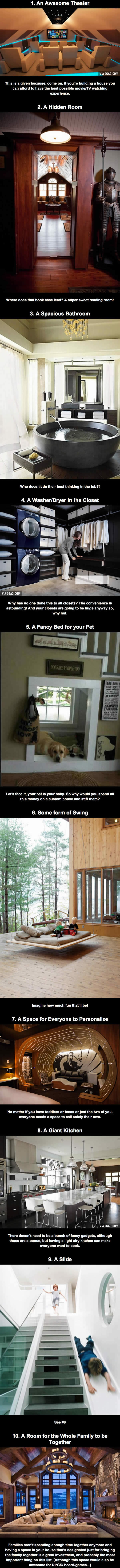 Things Every House Needs 10 things every custom built house needs - 9gag