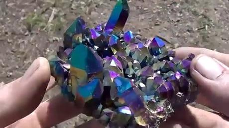 Titanium coated quartz crystal