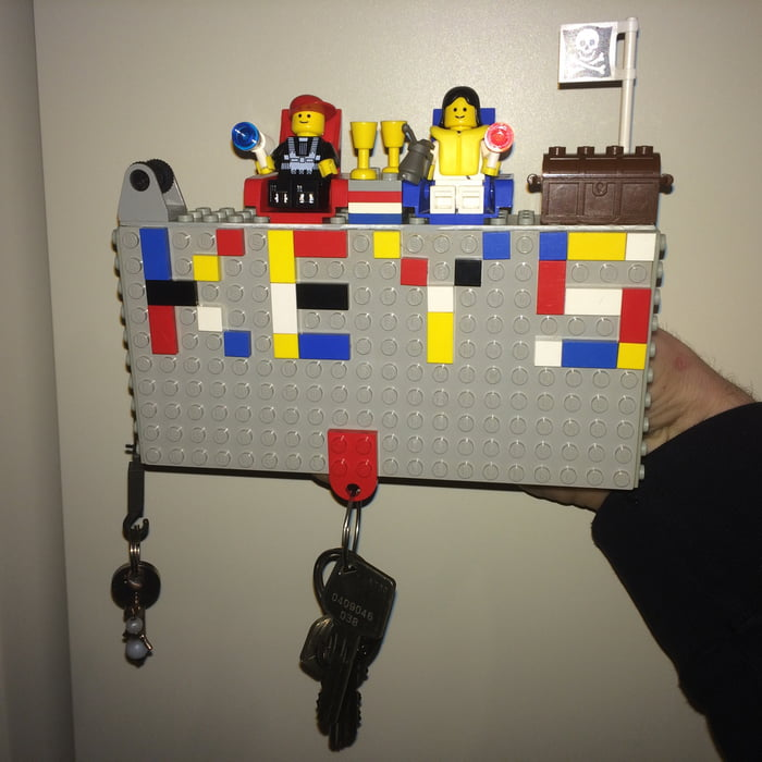 Key Holder I Made From Lego 9gag