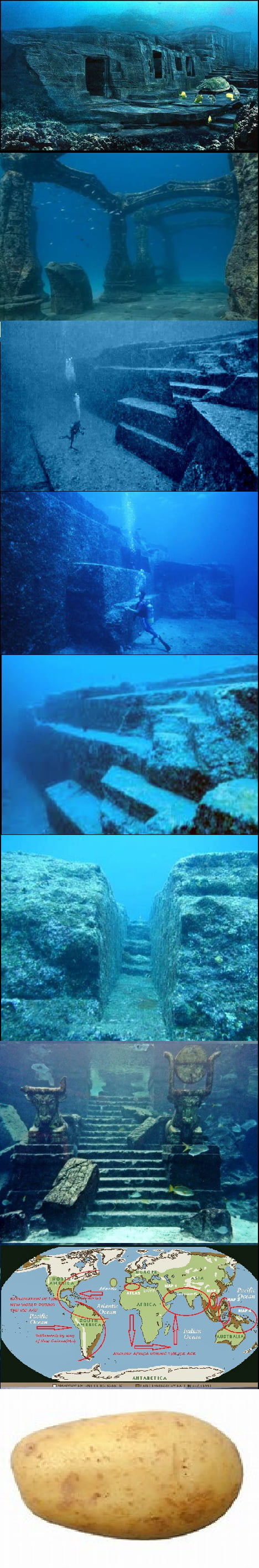 Japan's Ancient Under Water Temple, 10,000 year old 350 ft underwater?
