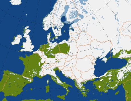 Snow Cover Map Europe.Snow Cover In Europe This Past Week 9gag