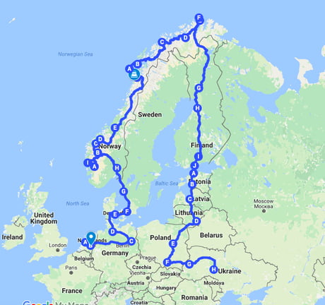 About 10.600 Km. done and it has been one amazing ride! Crazy how many nice 9gaggers you meet whilst on the road! Up to the 25.000 Km. !