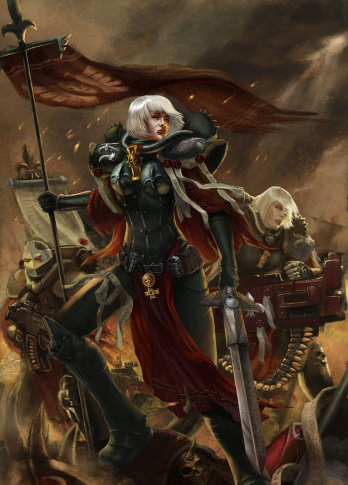 The Daily Warhammer 40k Phone Wallpaper Continues And Today Is The Sisters Of Battle 9gag