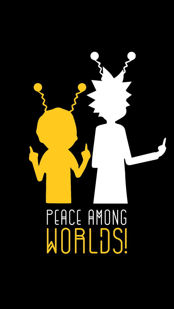 A Wallpaper For Our Edgy Rick Morty Fans 9gag