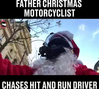 Santa helps arresting a hit and run driver
