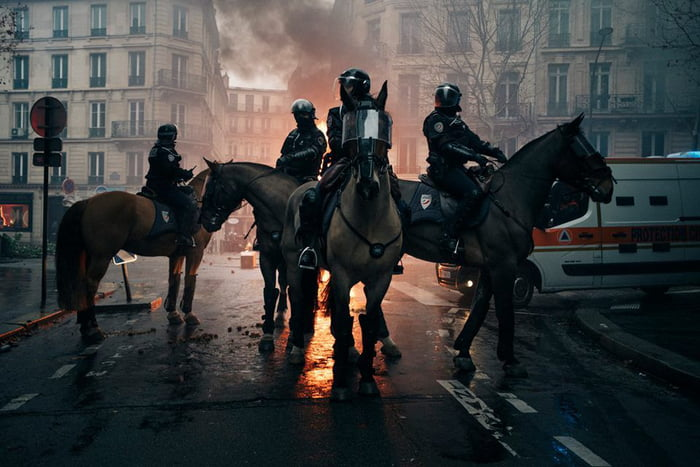 The four horsemen of the Apocalypse, Paris    - 9GAG