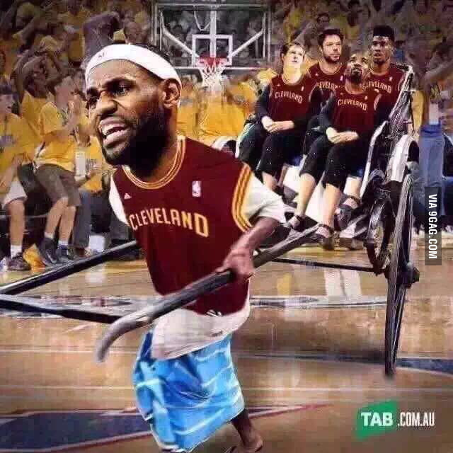 """Lebron """"carrying"""" His Team"""