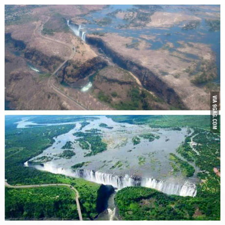 Victoria Falls Zimbabwe The Drought Is Hitting The Whole