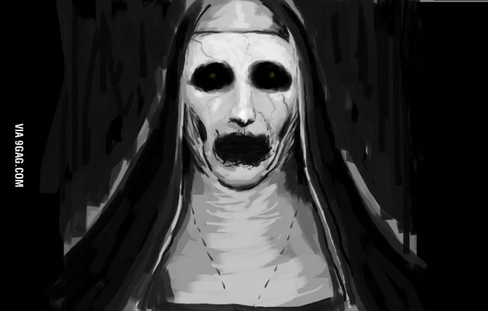 Ms Paint Mouse Only Valak The Demon Nun From The Conjuring