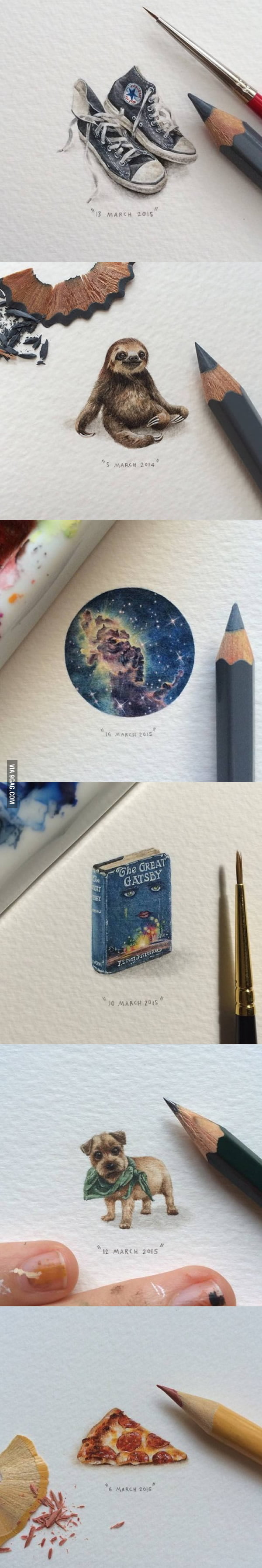 High detailed mini paintings, by Lorraine Loots