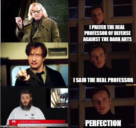 The Real Professor Of Defense Against The Dark Arts 9gag