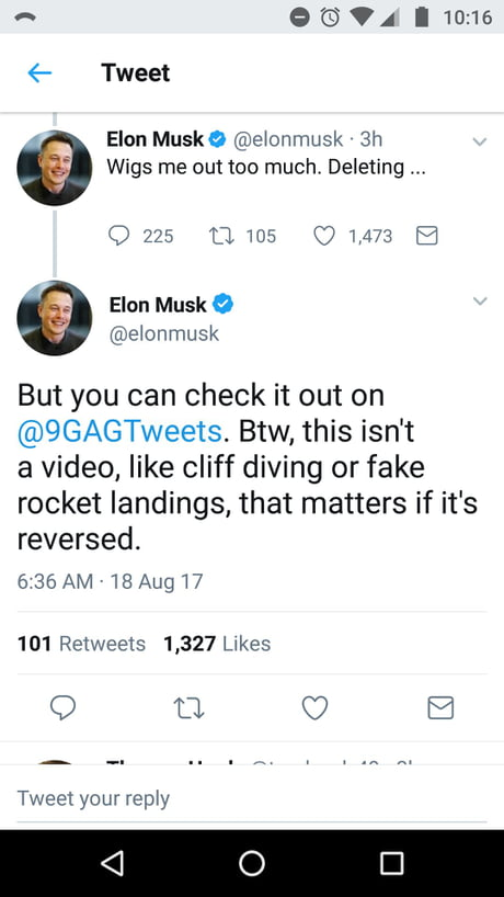 Holy f**k, Elon Musk is one of us