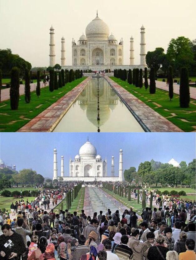 Image result for taj mahal instagram vs reality