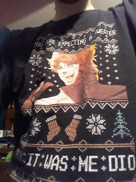 Jojo Christmas Sweater.Kono Dio Da 9gag