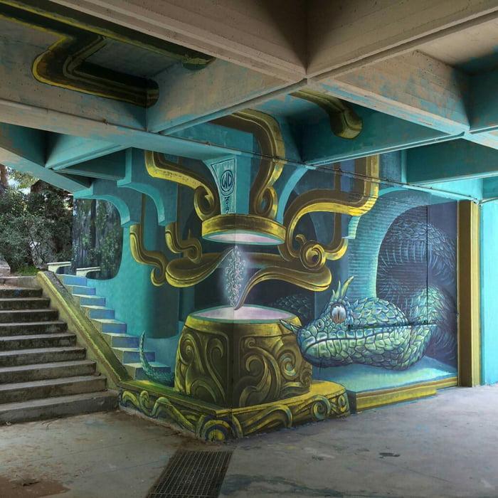 Graffiti is vandalism (?) House of Venom, Athens, Greece, 2017